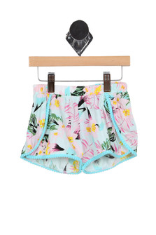 Hawaiian Print Shorts (Big Kid)