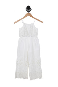 Embroidered Lace Jumpsuit (Little Kid)