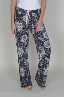 Drawstring Floral PJ Pants