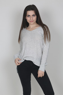 V-Neck Basic Knit Sweater