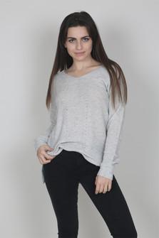 V-Neck Basic Knit Sweater