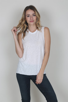 Raw Hem Open Back Tank