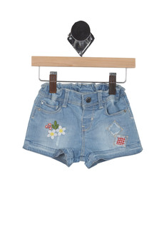 Embroidered Denim Shorts (Infant)