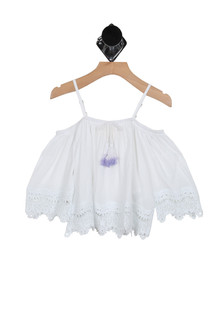 Lace Trim Off The Shoulder Top (Little Kid)