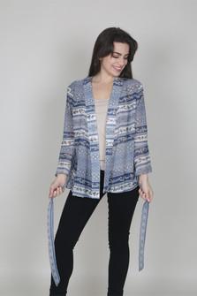 Belted Chiffon Kimono