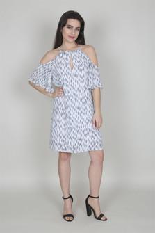 Cold Shoulder Keyhole Dress