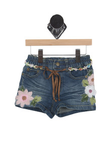 Floral Embroidered Shorts (Little Kid)