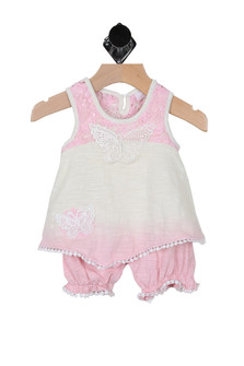 Dip Dye Butterfly Romper (Infant)