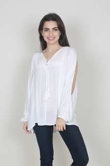L/S Cold Shoulder Blouse