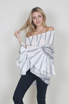 Off The Shoulder Peasant Blouse