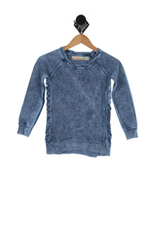 Side Lace Washed Out Pullover (Big Kid)