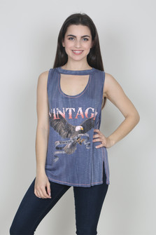 Vintage Cutout Graphic Tank