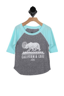 Sketch Cali Bear L/S Tee (Little/Big Kid)