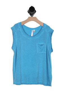 Washed Out Pocket Muscle Tee (Big Kid)