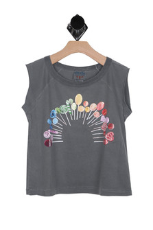Rainbow Lollipop Muscle Tee (Big Kid)