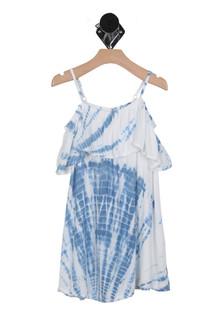 Tie-Dye Off The Shoulder Dress (Big Kid)