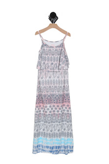 Boho Print Maxi Dress (Big Kid)