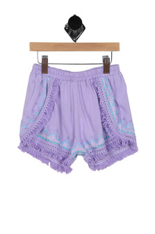Embroidered Fringed Shorts (Big Kid)