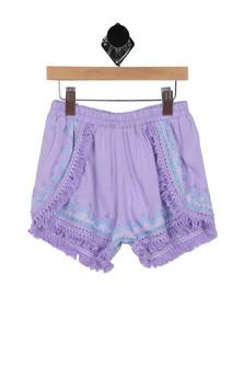 Embroidered Fringed Shorts (Big Kid)