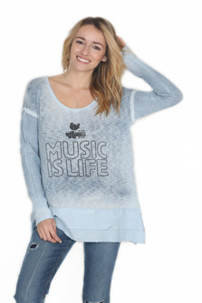Antique Wash Music Is Life Sweater