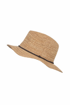 Straw Panama Hat w/ Braided Detailing