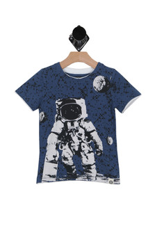 One Small Skate for Man S/S Tee (Toddler/Little Kid/Big Kid)