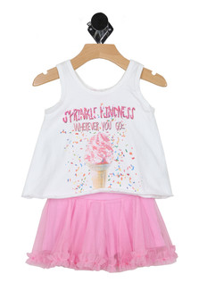 Sprinkle Kindness Tank/Skort Set (Infant)