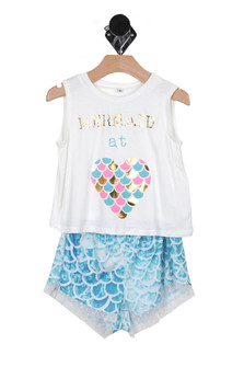 Mermaid at Heart Tank & Short Set (Little Kid)