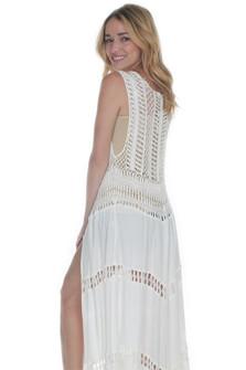 Off-White Long Crochet Kimono