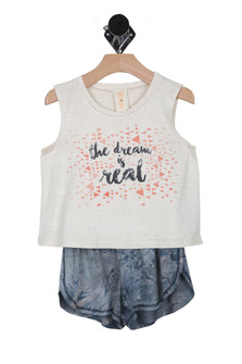 The Dream is Real Tank & Shorts Set (Little Kid)