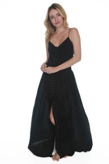 Revolver Black Studded Maxi Dress
