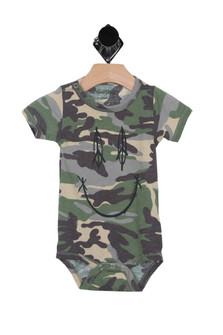Peace & Happyness Camo Onesie (Infant)
