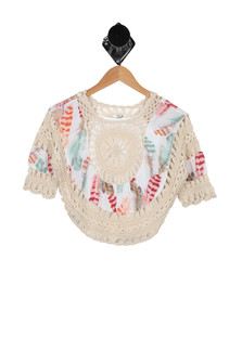 Feather Macrame Top w/ Cami (Big Kid)