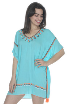 Embroidered Tassel Cover Up