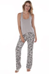 front shows soft silver vintage PJ tank top. Shown paired with the Vintage Floral PJ Pants.