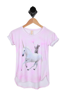 Unicorn Cat S/S Lounge Tunic (Little Kid)