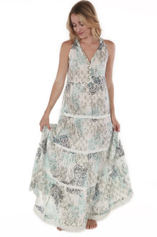 Block Maxi Dress