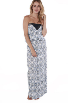 Indigo Crochet Maxi Dress