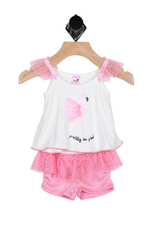 Flamingo Ruffled Set (Infant)