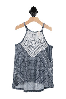 Hi-Lo Printed Tank (Big Kid)