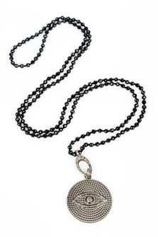 Evil Eye Diamond Knotted Chain Necklace