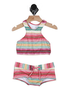 Surfin' Hi Neck Two-Piece Swimsuit (Big Kid)