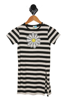 Daisies & Stripes S/S Dress (Little/Big Kid)