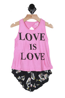 Love Is Sneakers Tank & Shorts Set (Toddler)