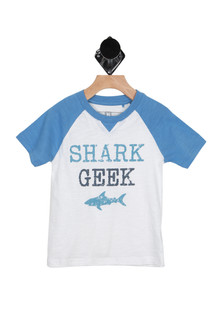 S/S Shark Geek Jersey Tee (Little/Big Kid)