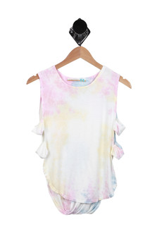 Tie Dye Open Side Cut Out Tank (Big Kid)