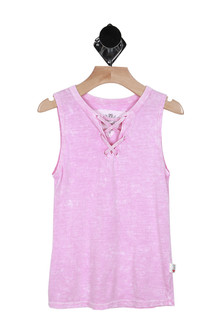 Lace Up Muscle Tank (Little/Big Kid)