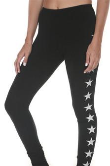 Flat Waist Star Leggings
