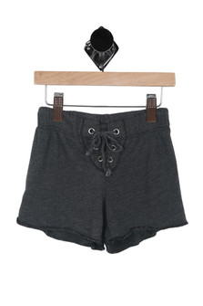Lace Up Front Shorts (Little/Big Kid)