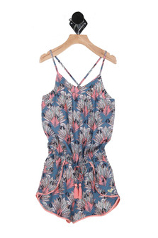Cuba Girl Woven Romper (Big Kid)